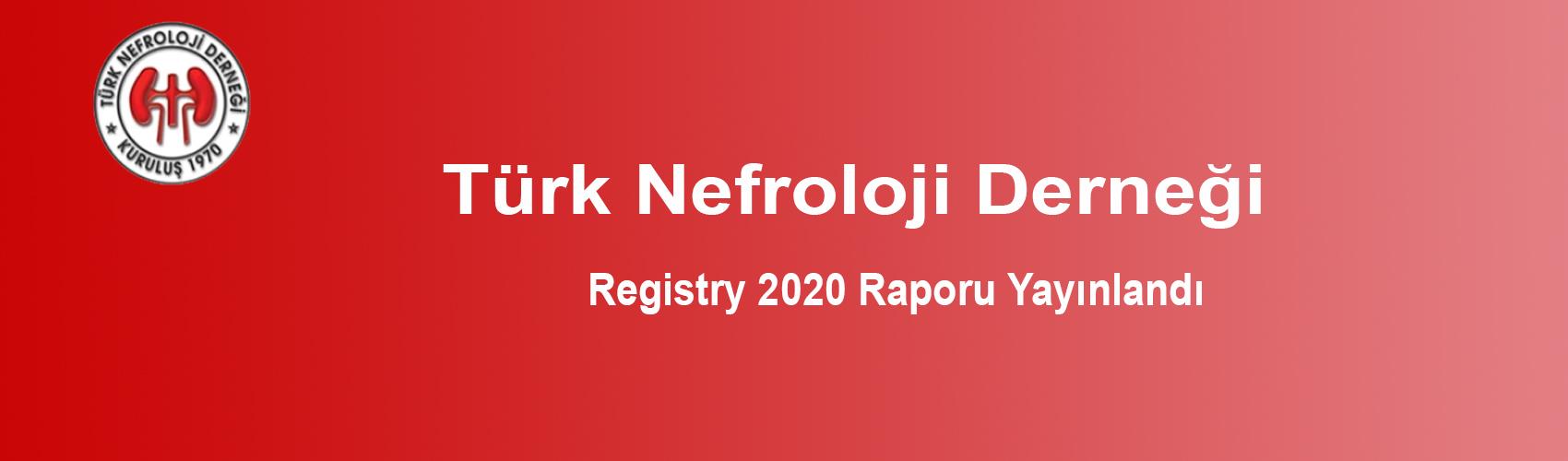 Türk Nefroloji Derneği Slide: Registry 2020 Raporu Yayınlandı